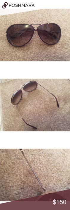 cc0914e3524cc Tom Ford Brown Pilot Sunglasses These Sunglasses are unisex