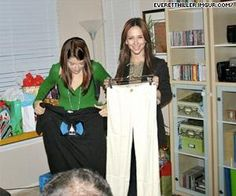 Jennifer Love Hewitt is extremely excited about these pants she never received at an AMAZING party that never happened