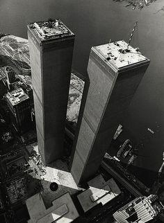 World Trade Center. Lower Manhattan. Twin Towers built in 1972.
