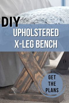 Learn how to build a simple DIY upholstered bench using 2x4 boards with detailed plans, tutorial, and video. It makes the perfect end of bed bench! #beginnerwoodworking #diybench #2x4projects #AnikasDIYLife Woodworking Furniture Plans, Woodworking Projects That Sell, Beginner Woodworking Projects, Woodworking Tips, Kreg Jig Projects, Scrap Wood Projects, Diy Furniture Projects, Furniture Makers, Wood Projects For Beginners
