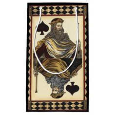 King of Spades Playing Card by Vision Studio Small Gift Bag