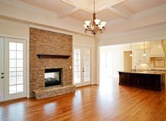 Sherwin-Williams Biscuit (walls), Dover White (trim), Biscuit 50% (ceiling)