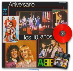 "The picture below shows the Abba compilation album ""Aniversario Los 10 Anos De Abba"" which was released in El Salvador in 1981 on red vinyl ... #Abba #Agnetha #Frida #Vinyl #ElSalvador http://abbafansblog.blogspot.co.uk/2017/01/abba-compilation_19.html"