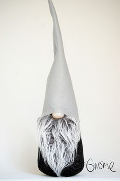 Scandinavian House Gnome, Black and Grey modern Gnome,Handmade by Nordic Gnome by NordicGnomeShop on Etsy https://www.etsy.com/listing/258758384/scandinavian-house-gnome-black-and-grey