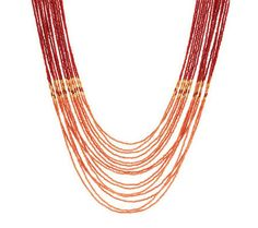 Susan Graver Nested Multi-Strand Seed Bead Necklace