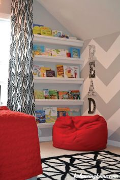 Is your little one ready to start learning to read on their own? With this decor inspiration for a child's reading nook, you'll be on your way to making storytime so much fun. From cozy pillows and bean bag chairs to floating shelves filled with their favorite books, there are so many ways to encourage your toddler to fall in love with reading.