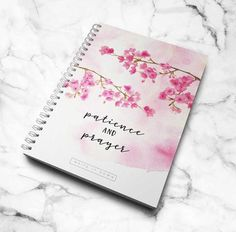 Patience and Prayer - Cherry blossom Notebook