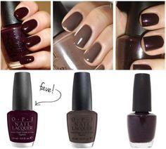 Dark Color Nail