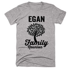 EGAN Family Name Reunion Gathering Surname T-Shirt