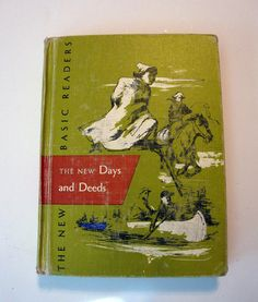Vintage 1955 New Days and Deeds School Reader Book by flyingdollar, $11.99