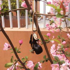Fairy Garden Accessories Studio Ghibli No-Face Man Swing | Etsy