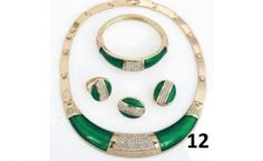 Seepretty Hot sale crystal ⓪ Green african beads jewelry set wedding ღ ღ dress accessories fashion costume jewelry sets Seepretty Hot sale crystal Green african beads jewelry set wedding dress accessories fashion costume jewelry sets Costume Jewelry Sets, Women's Jewelry Sets, Wedding Jewelry Sets, Jewelry Party, Gold Jewelry, Jewelry Accessories, Fashion Accessories, Women Jewelry, Cheap Necklaces
