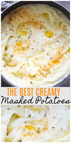Creamy Dreamy Mashed Potatoes The BEST mashed potatoes! Plus, tips to get the PERFECT mashed potatoes every time!The BEST mashed potatoes! Plus, tips to get the PERFECT mashed potatoes every time! Thanksgiving Dinner Recipes, Holiday Dinner, Holiday Recipes, Thanksgiving Stuffing, Thanksgiving Mashed Potatoes Recipe, Easy Thanksgiving Side Dishes, Christmas Dinner Sides, Traditional Thanksgiving Recipes, Hosting Thanksgiving