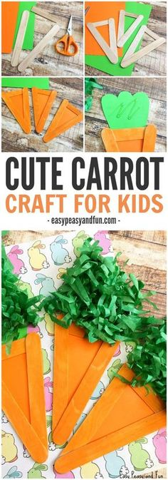 Cute and Simple Carrot Craft for Kids to Make