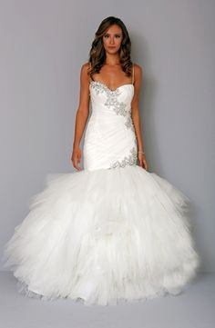 Sweetheart Mermaid Wedding Dress  with Dropped Waist in Silk Organza. Bridal Gown Style Number:32835332