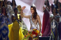 Iris Mittenaraere, a dental student from the city of Lille in northern France won the Miss Universe crown Monday, local tome, at the annual pageant held this year in the Philippines. Voice Of America, Miss America, Iris, Central And Eastern Europe, Central Asia, Miss Francia, Miss Universe Crown, Miss Universe Philippines, Miss Usa