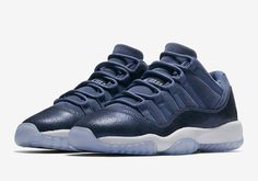 The Jordan 11 Low Blue Moon (Style Code: 580521-408) will release on April 22nd, 2017 for $130 USD in GS sizes. More info: