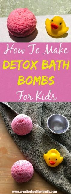How To Make Detox Bath Bombs For Kids. The best DIY idea and natural remedy for colds. Fun, healthy and creative! #DIY #bathbombs #detox #kids #health #wellness