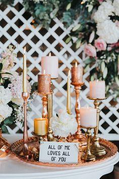 Hochzeitstischdeko Ideen - Romantische Kerzendeko