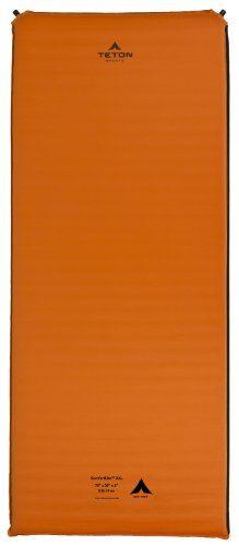 Teton Sports Comfortlite Self Inflating Camp Pad with Velcro Side Strips, 78 x 30 x 3-Inch/XX-Large, Orange