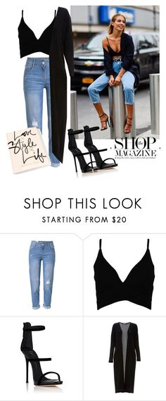 """Jeans and black"" by robbys73 ❤ liked on Polyvore featuring WithChic, Boohoo, Giuseppe Zanotti and Audrey 3+1"