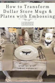 Wondering how to make beautiful tablescapes on a budget? Use Iron Orchid Designs' Decor Stamps and emboss like a boss! In this quick, step-by-step video tutorial you'll learn how to emboss a Dollar St Diy Interior, Dollar Store Crafts, Dollar Stores, Decor Crafts, Diy Home Decor, Clear Glass Plates, Glass Art, Iron Orchid Designs, Food Recipes