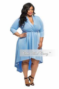 New Plus Size Mini High Low Tuxedo Tail Skater Dress in Royal Blue ...