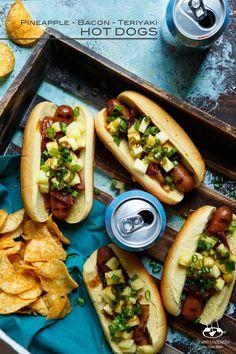 Pineapple, Bacon, and Teriyaki Hot Dogs | sharedappetite.com