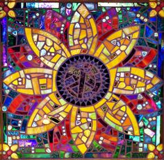 Stained glass sunflower         #mosaic #flowers