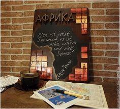 Купить Меловая доска Грифельная доска Африка - комбинированный, меловая доска, доска для записей мелом