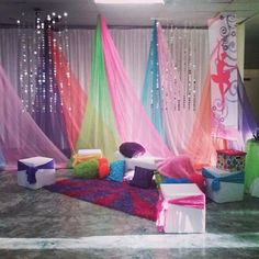 Quinceanera reception party decor - New Site Reception Party, Party Venues, Sleepover Birthday Parties, Party Scene, Space Party, Ideas Para Fiestas, Ceiling Decor, Backdrops For Parties, Paint Party