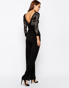 Quontum | Quontum Jumpsuit with Lace Overlay Back Detail at ASOS