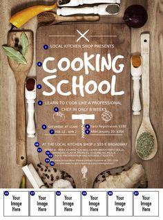 Cooking Class Flyer   Cooking School Logo Flyer