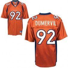 e8d14415f Broncos  92 Elvis Dumervil Orange Stitched NFL Jersey Jacksonville Jaguars  Jersey
