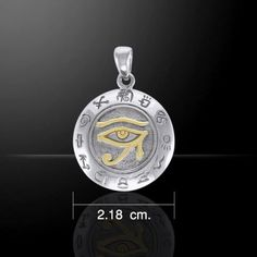 EYE of RA Horus Pendant 925 Silver Gold vermeil Egyptian FALCON GOD Wadjet Udjat