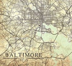 Image result for baltimore map | Baltimore | Pinterest