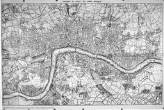 Maps of Old London. An atlas of Old London maps (detailed and quite large)… Street Map Of London, Old Maps Of London, London Map, Tower Of London, Old London, London Places, Bastille, Victorian London, Vintage London