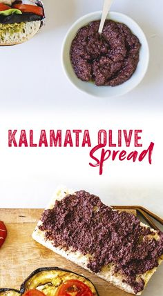 This Kalamata olive spread (also called tapenade) is used in Italian cuisine to add big flavor to sandwiches. It& one of our simplest olive recipes! Delicious Vegan Recipes, Gourmet Recipes, Cooking Recipes, Olive Recipes Vegan, Finger Food Appetizers, Appetizer Recipes, Couple Cooking, Kalamata Olives, Sandwiches