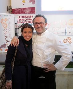 With Chef Massimo Bottura in a Mycology forum in Soria, Spain