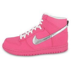 Nike Women' s Dunk High Premium (Pink Flash / Metallic Silver-White) 6 C/D US $79.99 -