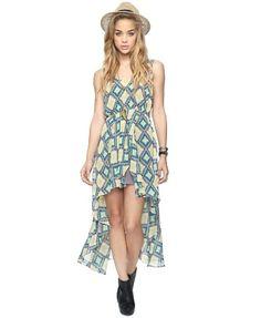 Southwest High-Low Dress - sheer summer fashion