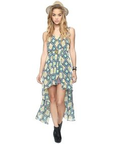 Southwest High-Low Dress - sheer summer fashion
