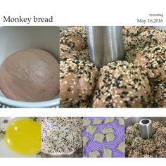 Sweet potato sesame monkey bread  Recipe link - https://kwgls.wordpress.com/2014/08/15/sweet-potato-sesame-monkey-bread