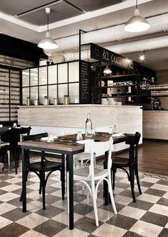 2 0 0 5 - 2 0 1 5 - Picture gallery LA CUCINERIA - ROMA #restaurant #project #decor #travertino #graniglia #trattoria #mohamedkeilani