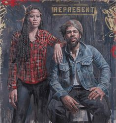 I love the graffiti backgrounds.    Tim Okamura, Represent (2009)