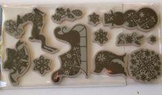 New  12 Pc. Cling Mounted Rubber Stamp Set by YourScrapbookingShop, $9.95