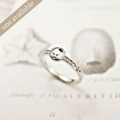 Image of platinum 4.7mm rose cut diamond ring {No.C - SOLD}    LOVE RUST