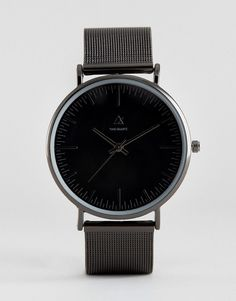 ASOS Mesh Strap Watch In Black - Black