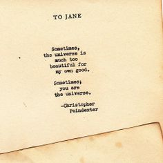 Romantic universe poem #27