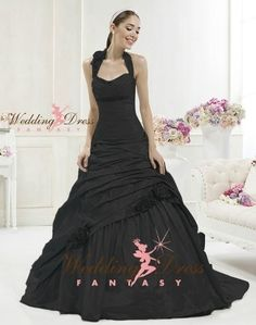 Black wedding dress. Interesting, not something I\'d wear but still ...